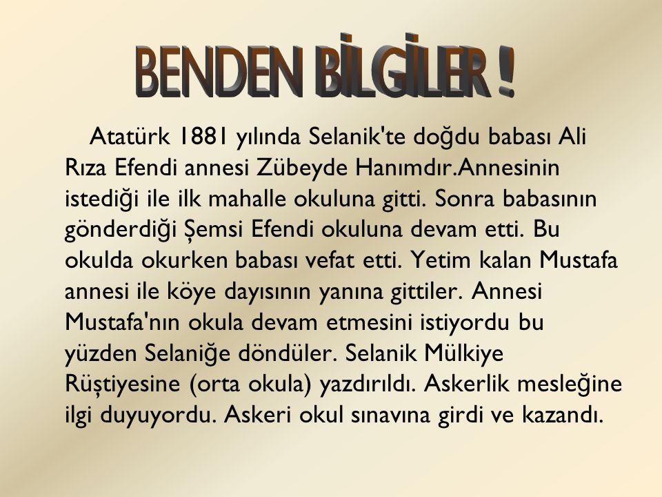 BENDEN BİLGİLER !