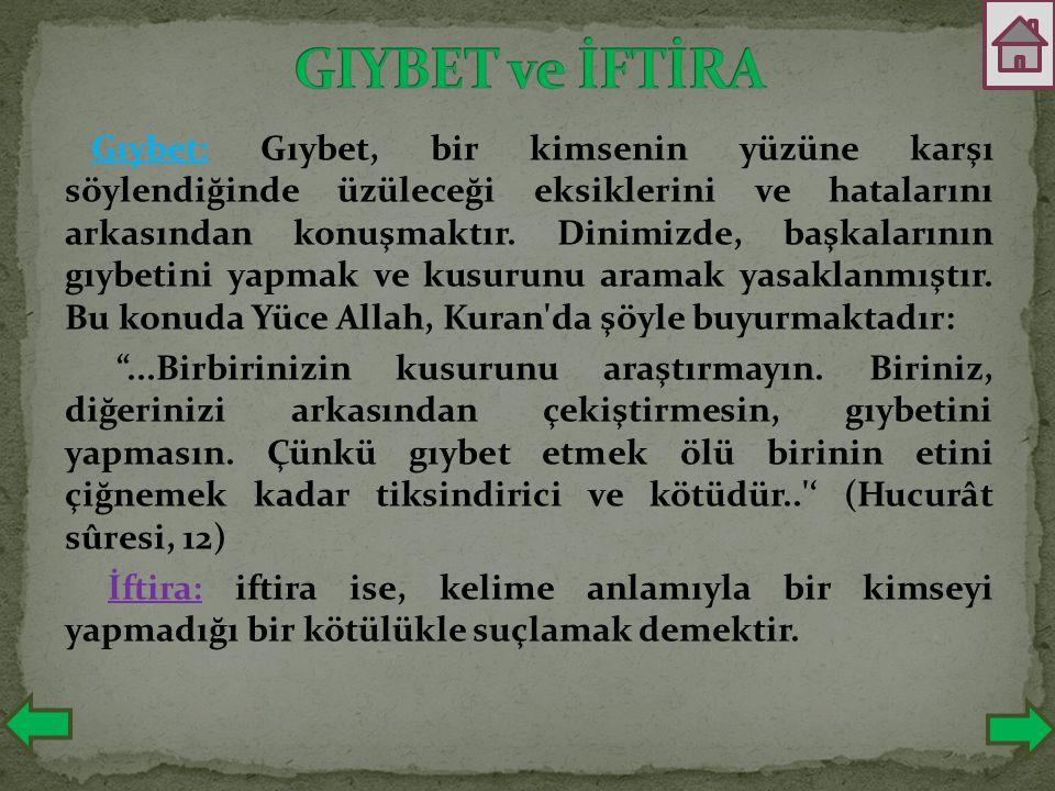 GIYBET ve İFTİRA