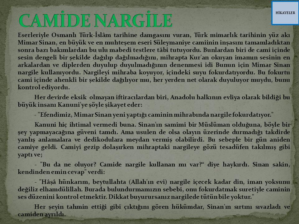 HİKAYELER CAMİDE NARGİLE.