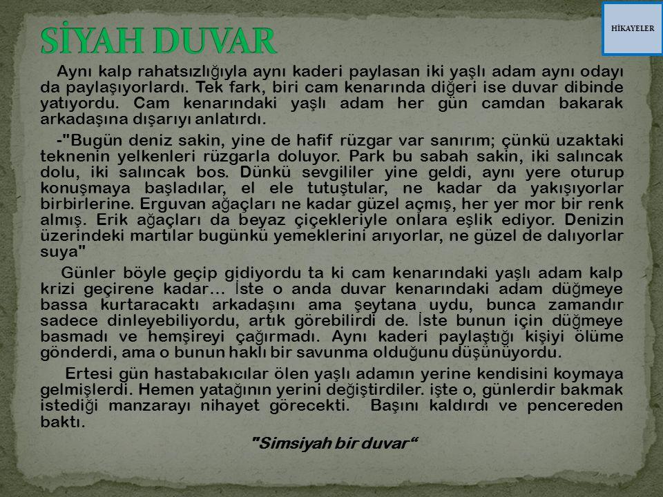 HİKAYELER SİYAH DUVAR.