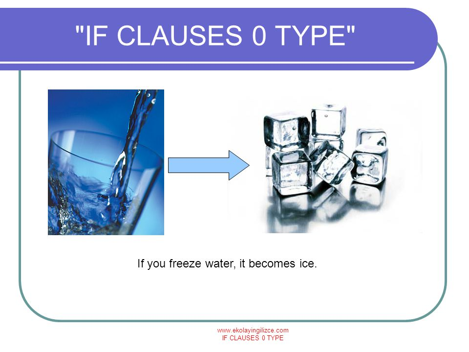 If you freeze water, it becomes ice.