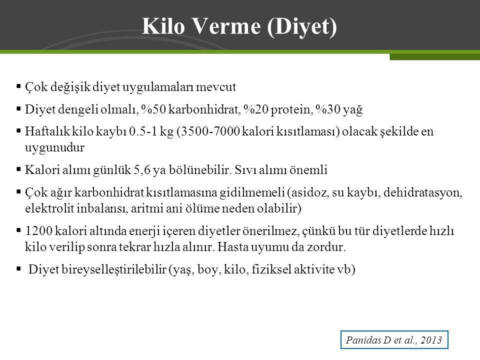 Kilo Verme (Diyet) Çok değişik diyet uygulamaları mevcut