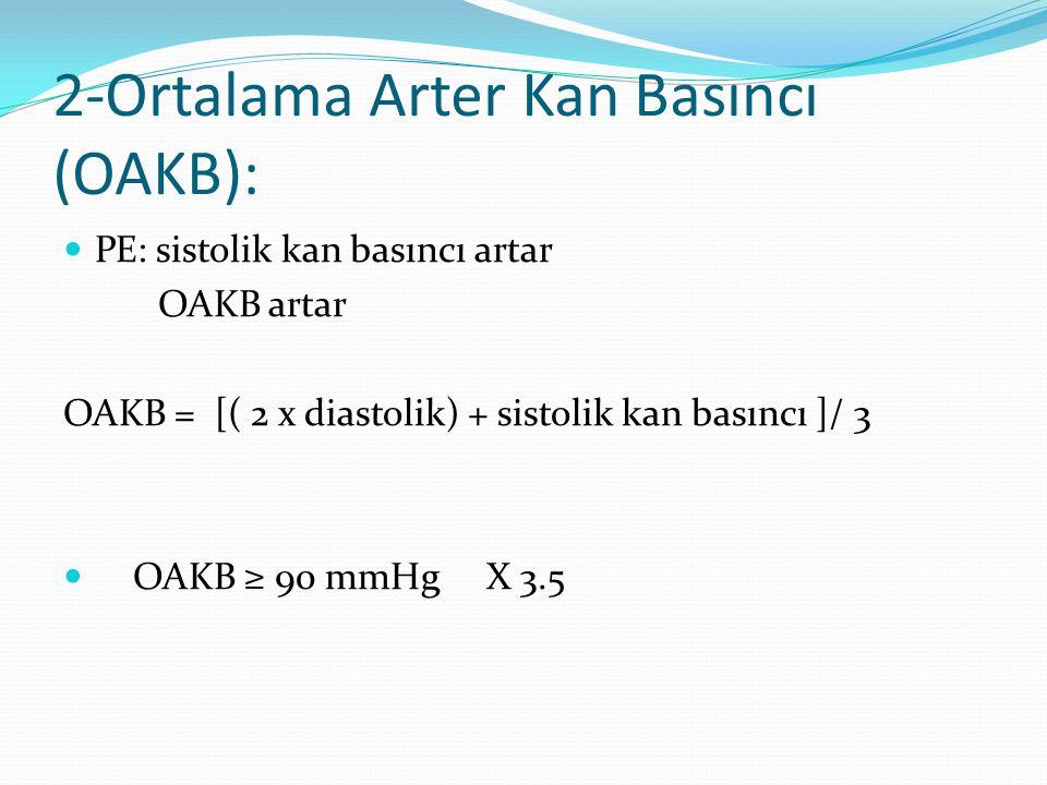 2-Ortalama Arter Kan Basıncı (OAKB):