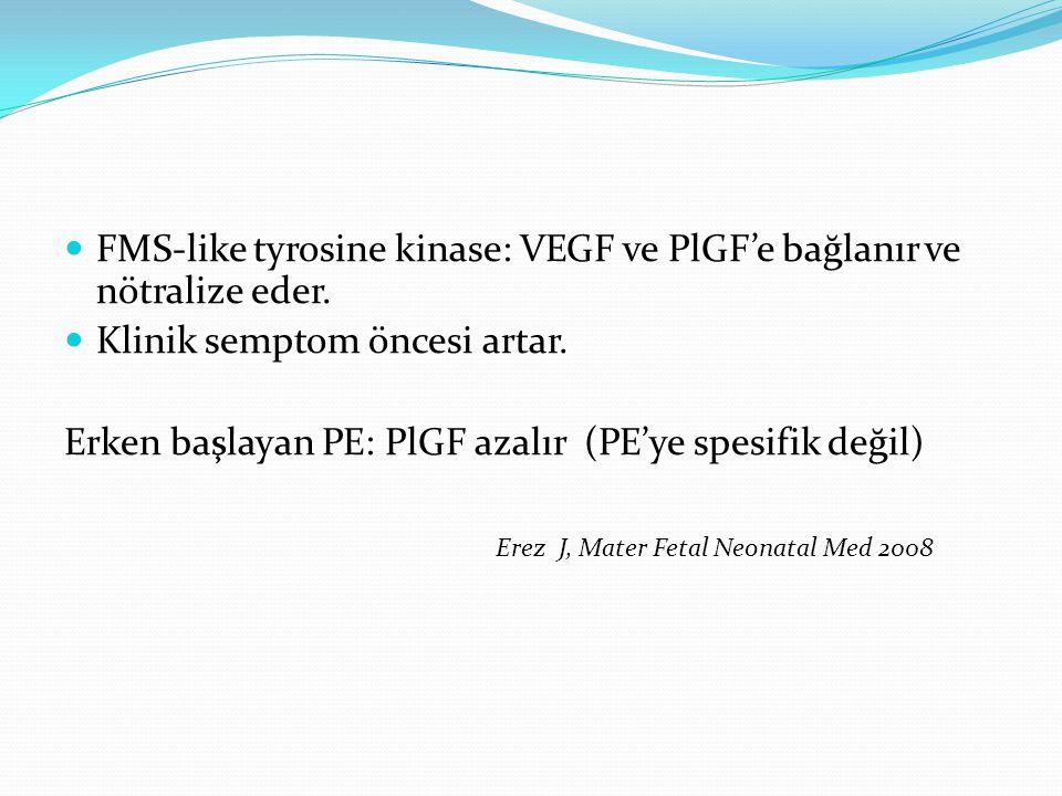 FMS-like tyrosine kinase: VEGF ve PlGF'e bağlanır ve nötralize eder.