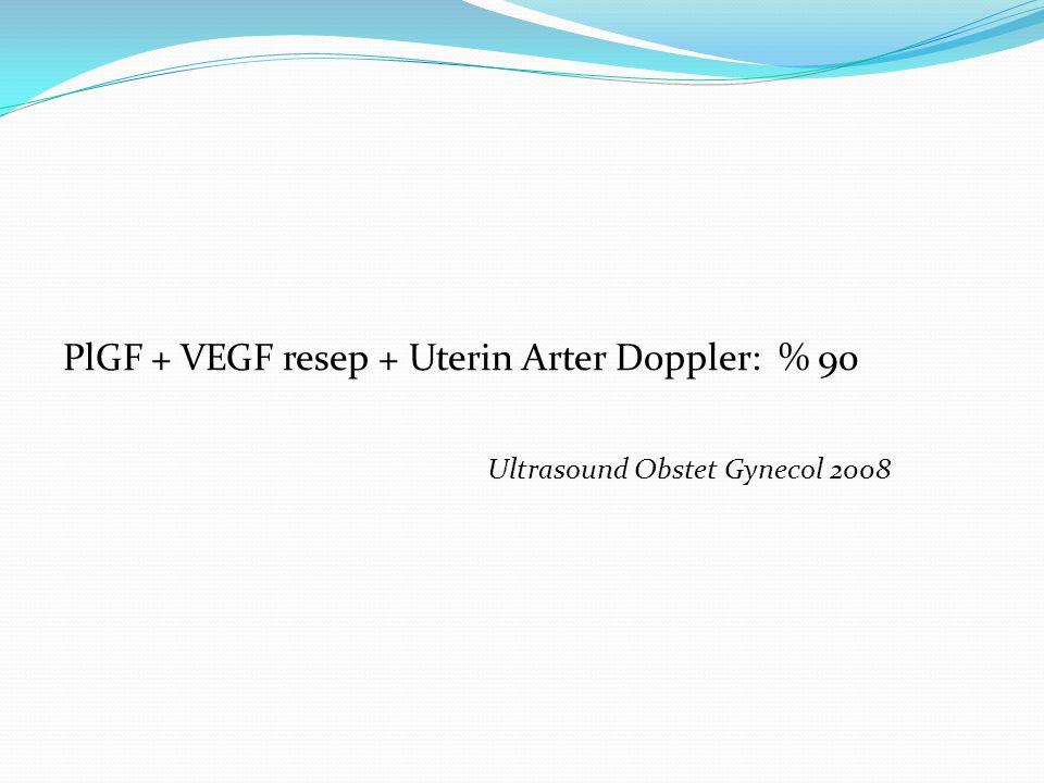 PlGF + VEGF resep + Uterin Arter Doppler: % 90