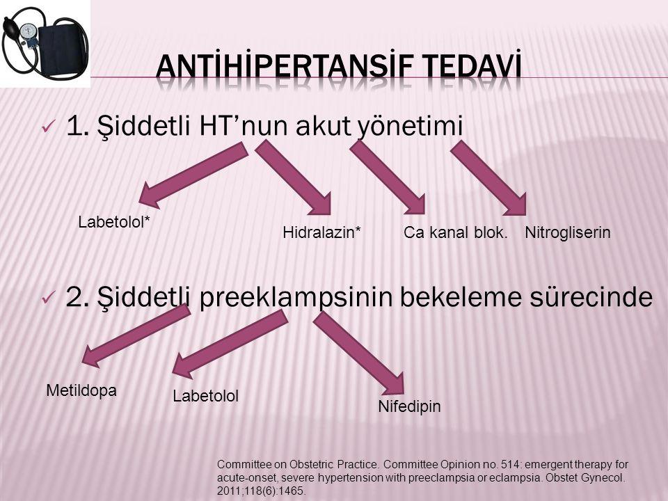 ANTİHİPERTANSİF TEDAVİ
