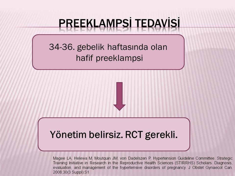 Yönetim belirsiz. RCT gerekli.