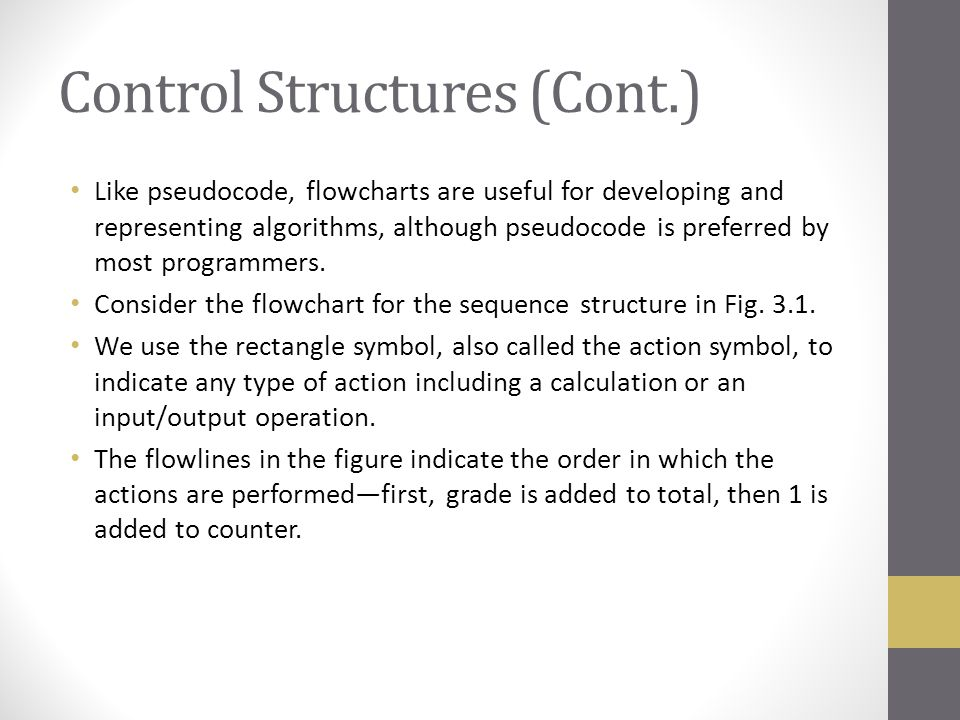 Control Structures (Cont.)