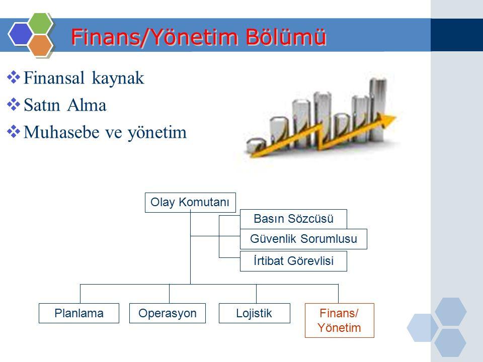Finans/Yönetim Bölümü