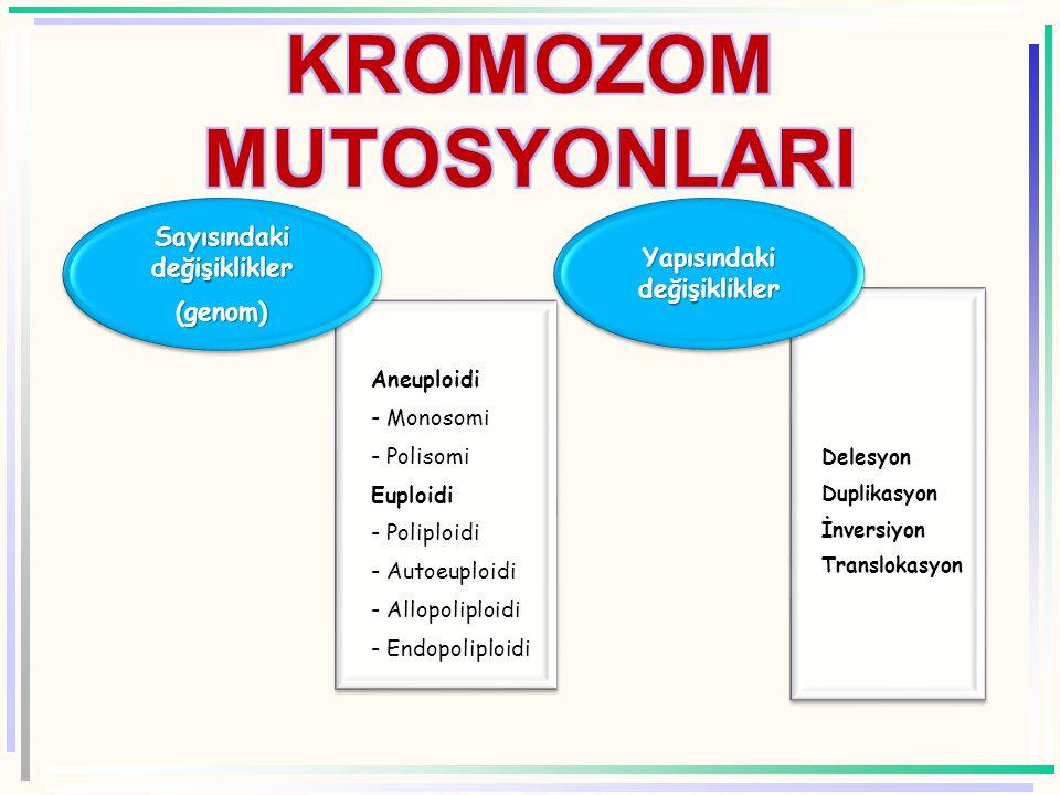 KROMOZOM MUTOSYONLARI