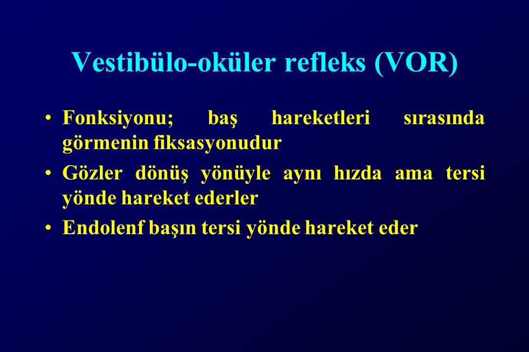 Vestibülo-oküler refleks (VOR)