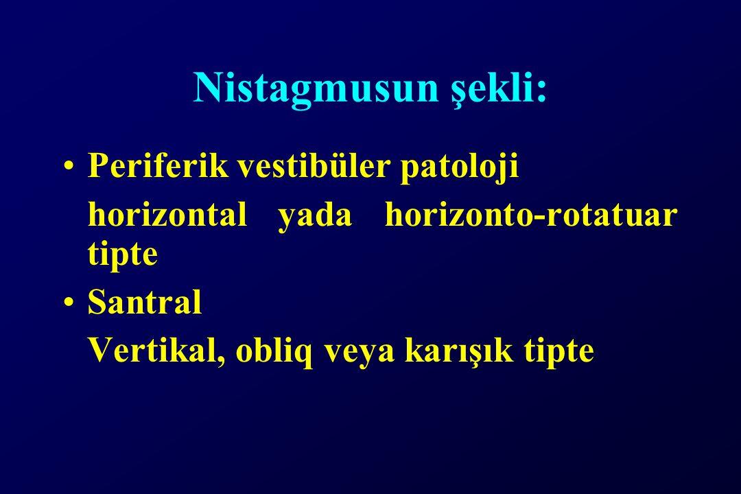 Nistagmusun şekli: Periferik vestibüler patoloji