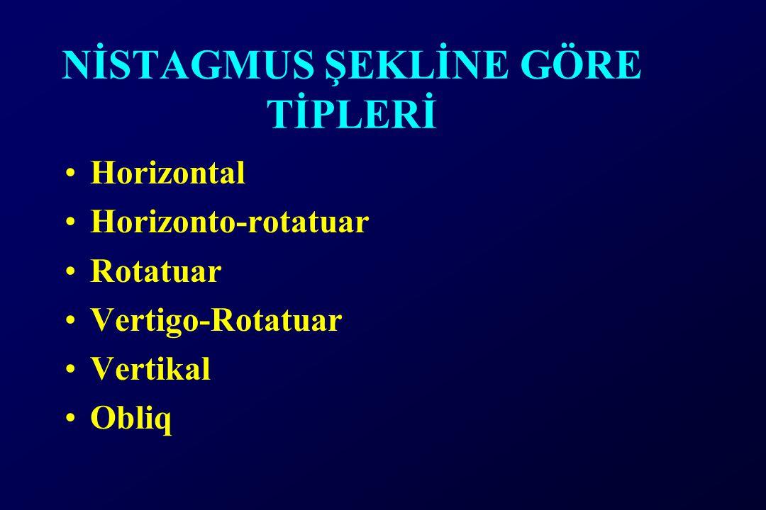 NİSTAGMUS ŞEKLİNE GÖRE TİPLERİ