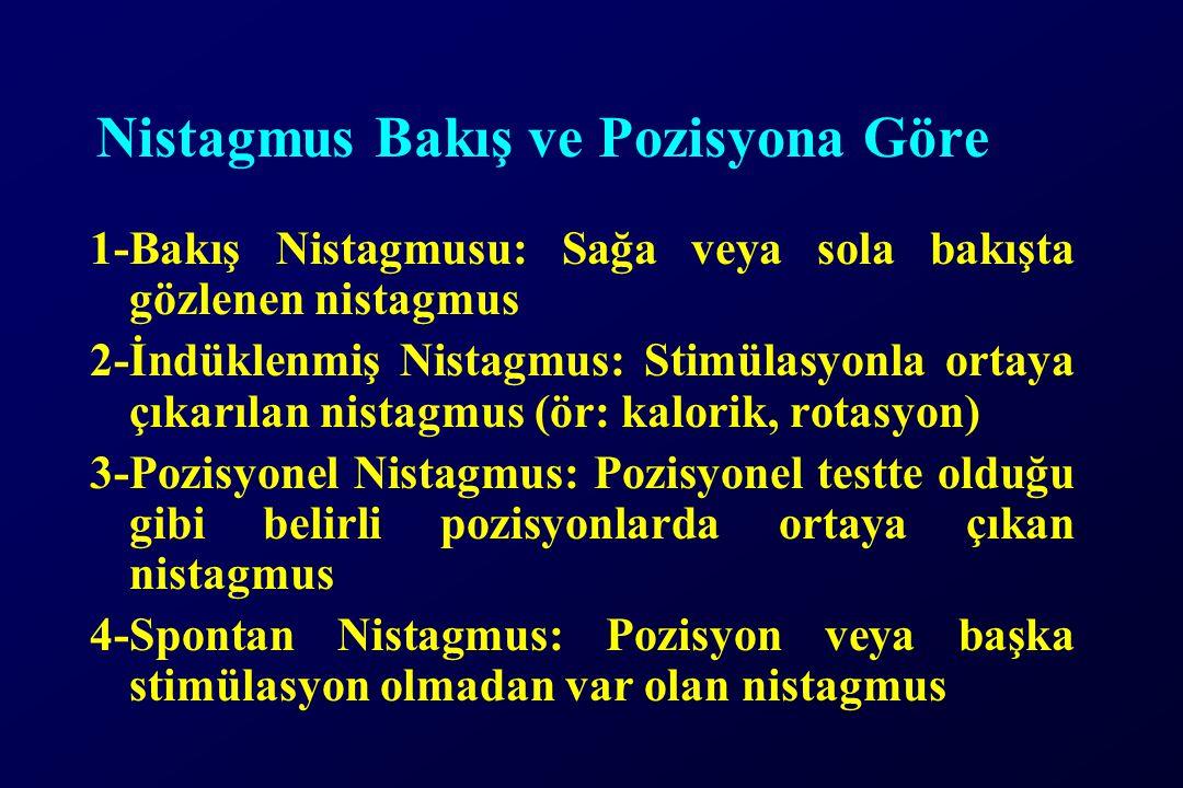 Nistagmus Bakış ve Pozisyona Göre