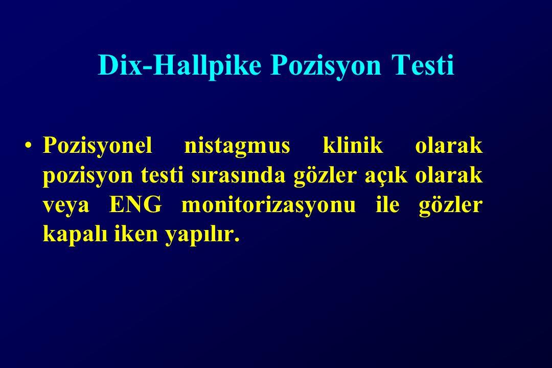 Dix-Hallpike Pozisyon Testi