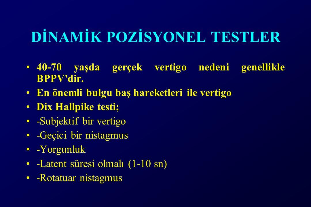 DİNAMİK POZİSYONEL TESTLER