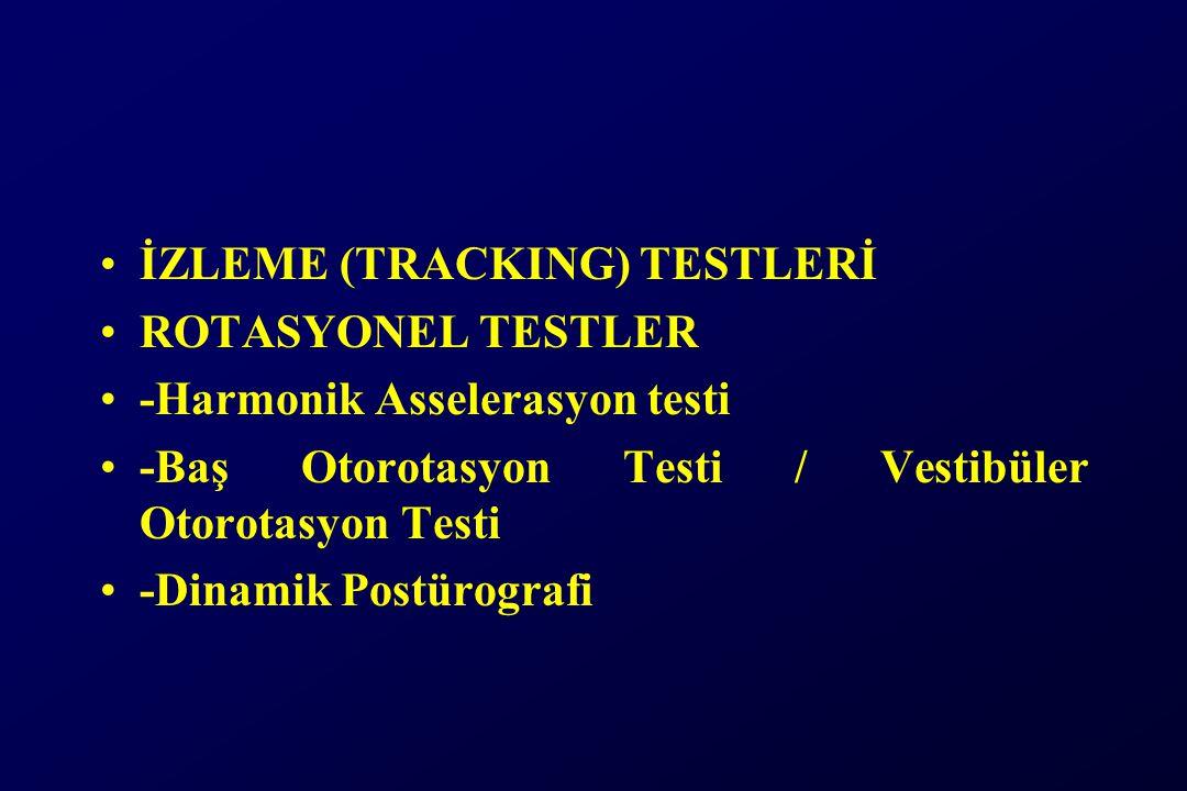 İZLEME (TRACKING) TESTLERİ ROTASYONEL TESTLER