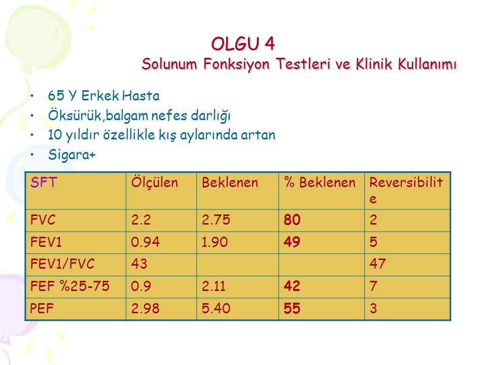 OLGU 4 Solunum Fonksiyon Testleri ve Klinik Kullanımı