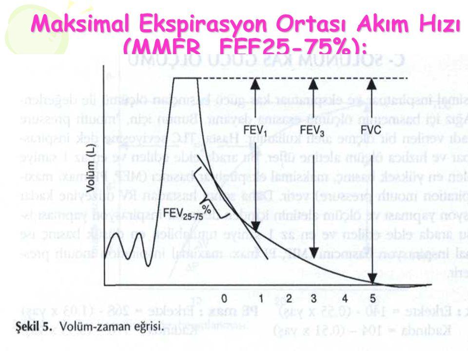 Maksimal Ekspirasyon Ortası Akım Hızı (MMFR, FEF25-75%):
