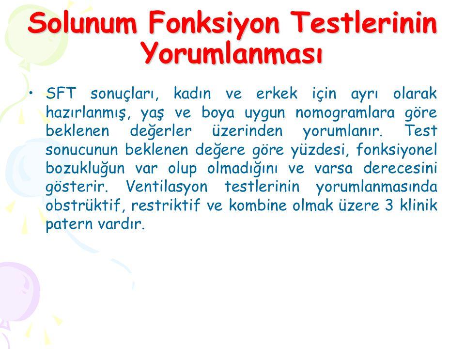 Solunum Fonksiyon Testlerinin Yorumlanması