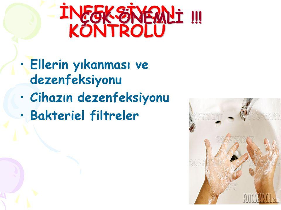 İNFEKSİYON KONTROLÜ ÇOK ÖNEMLİ !!! Ellerin yıkanması ve dezenfeksiyonu