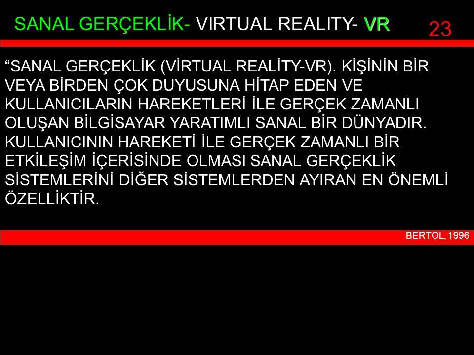 23 SANAL GERÇEKLİK- VIRTUAL REALITY- VR