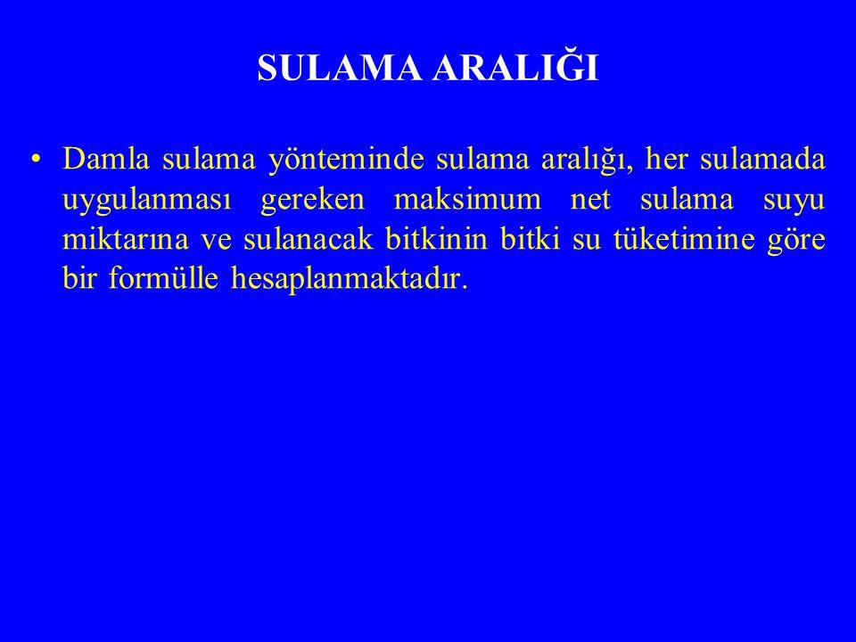 SULAMA ARALIĞI