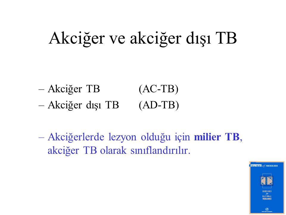 Akciğer ve akciğer dışı TB