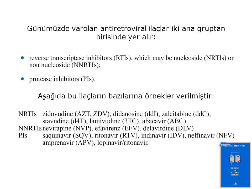 Aşağıda bu ilaçların bazılarına örnekler verilmiştir: