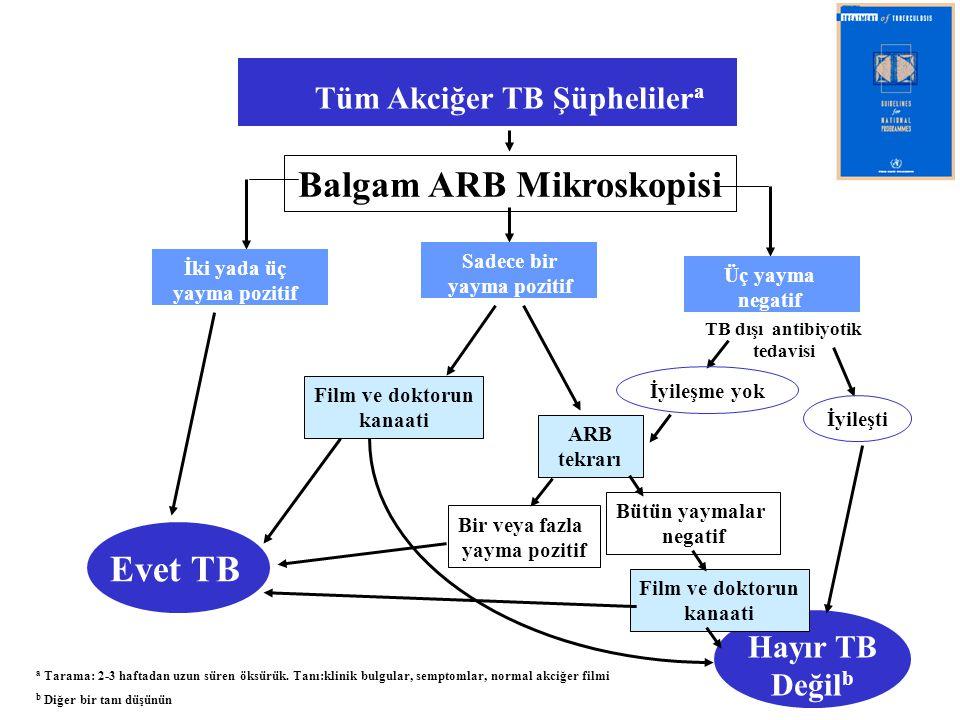 Balgam ARB Mikroskopisi Evet TB