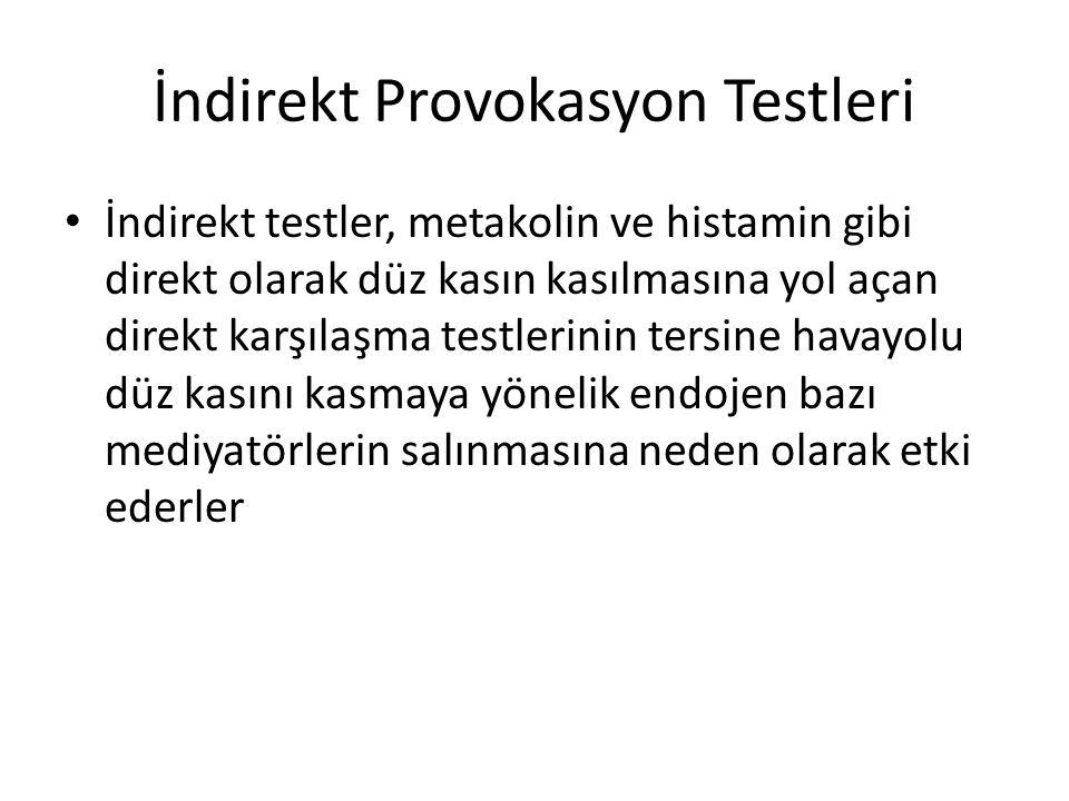 İndirekt Provokasyon Testleri