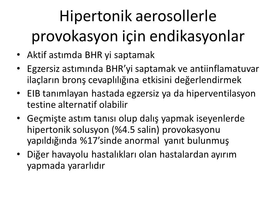 Hipertonik aerosollerle provokasyon için endikasyonlar