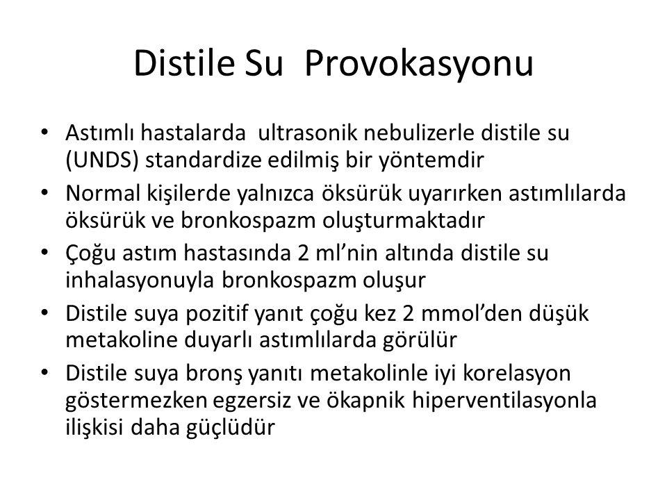 Distile Su Provokasyonu