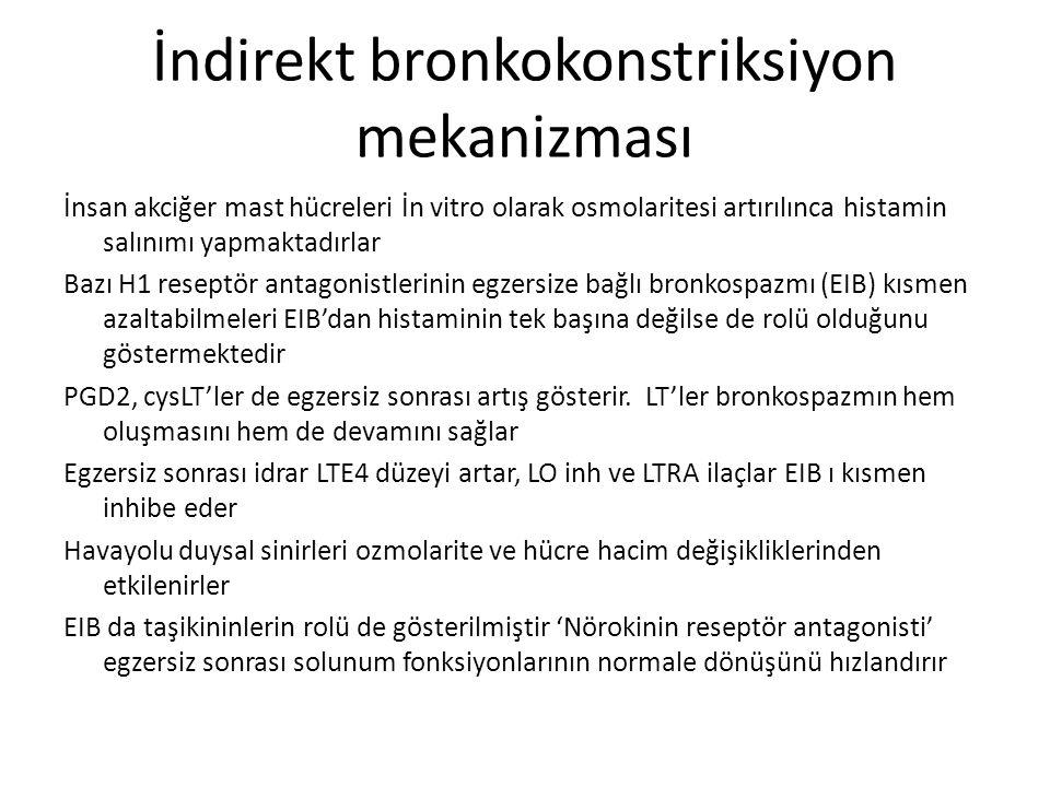 İndirekt bronkokonstriksiyon mekanizması