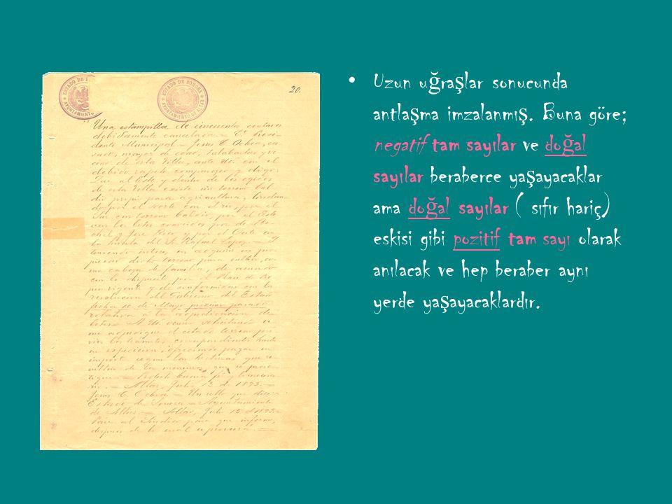 Uzun uğraşlar sonucunda antlaşma imzalanmış