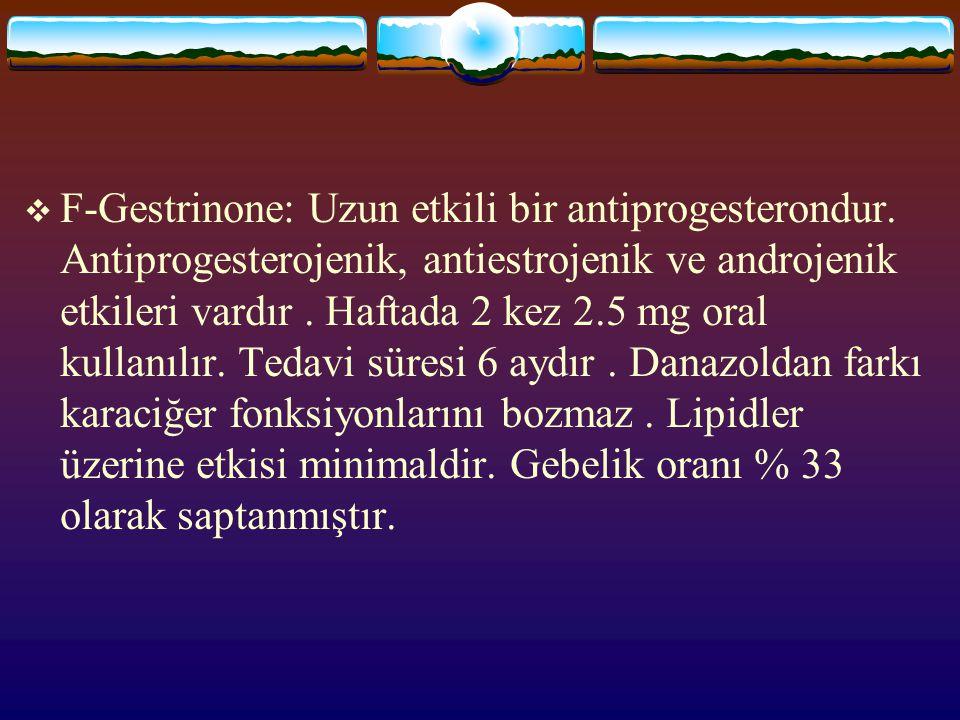 F-Gestrinone: Uzun etkili bir antiprogesterondur