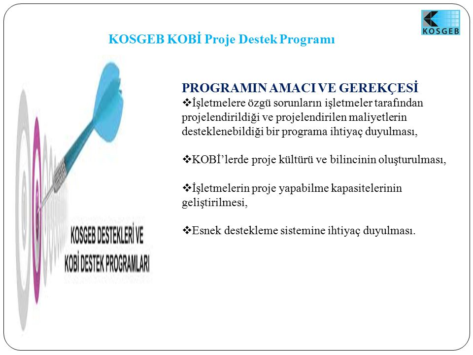 KOSGEB KOBİ Proje Destek Programı