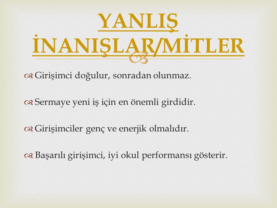 YANLIŞ İNANIŞLAR/MİTLER