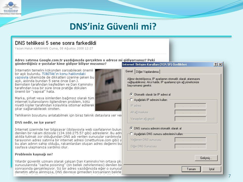 DNS'iniz Güvenli mi