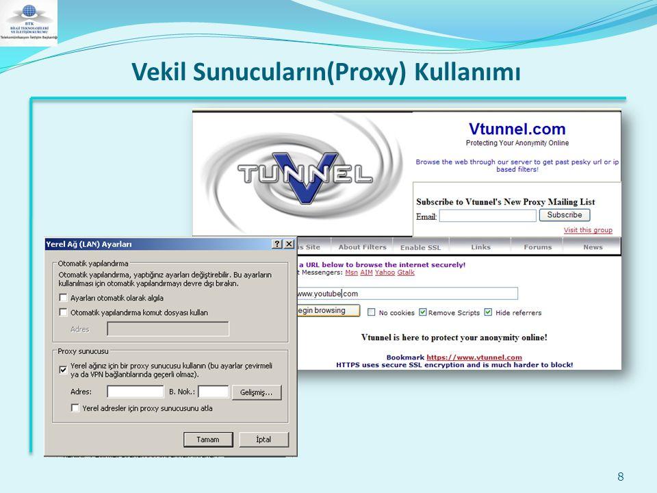 Vekil Sunucuların(Proxy) Kullanımı