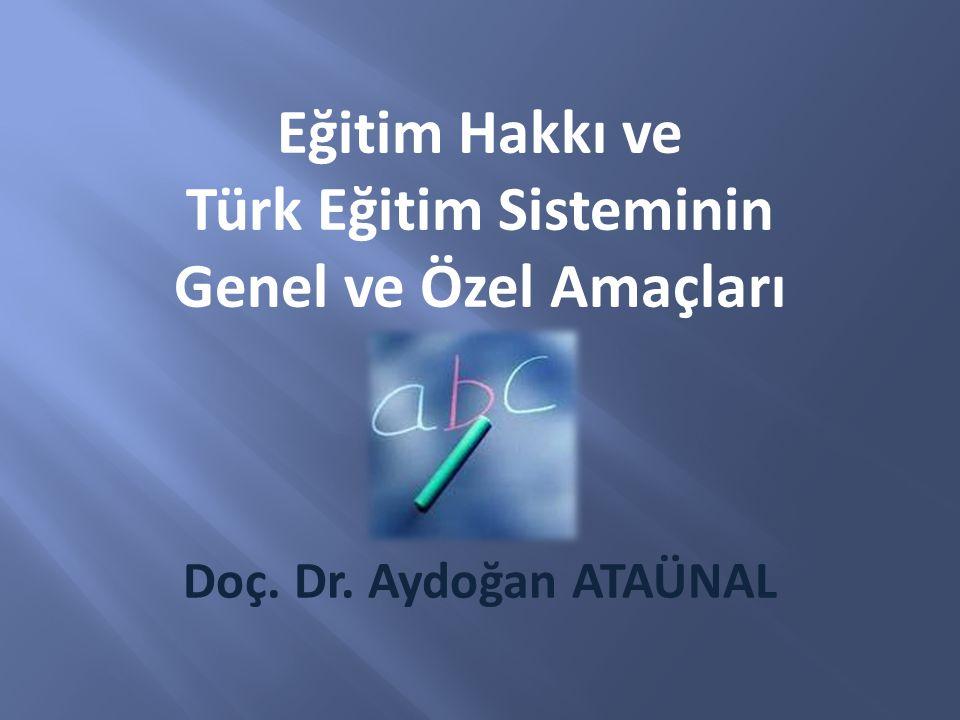 Türk Eğitim Sisteminin