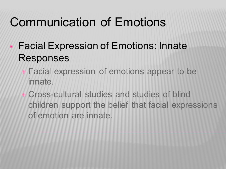 Communication of Emotions