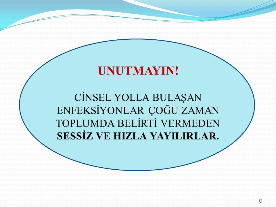 SESSİZ VE HIZLA YAYILIRLAR.