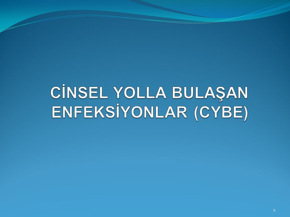 CİNSEL YOLLA BULAŞAN ENFEKSİYONLAR (CYBE)