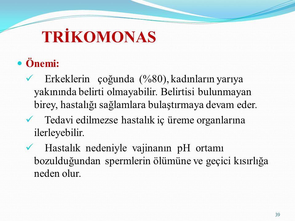 TRİKOMONAS Önemi: