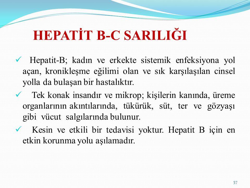 HEPATİT B-C SARILIĞI