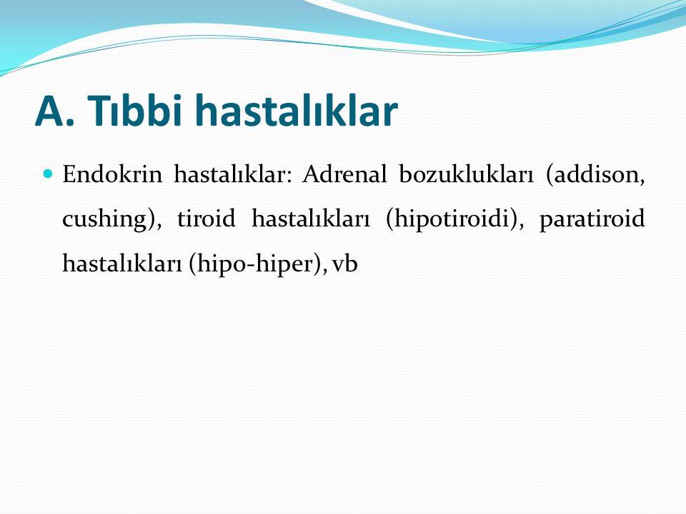 A. Tıbbi hastalıklar