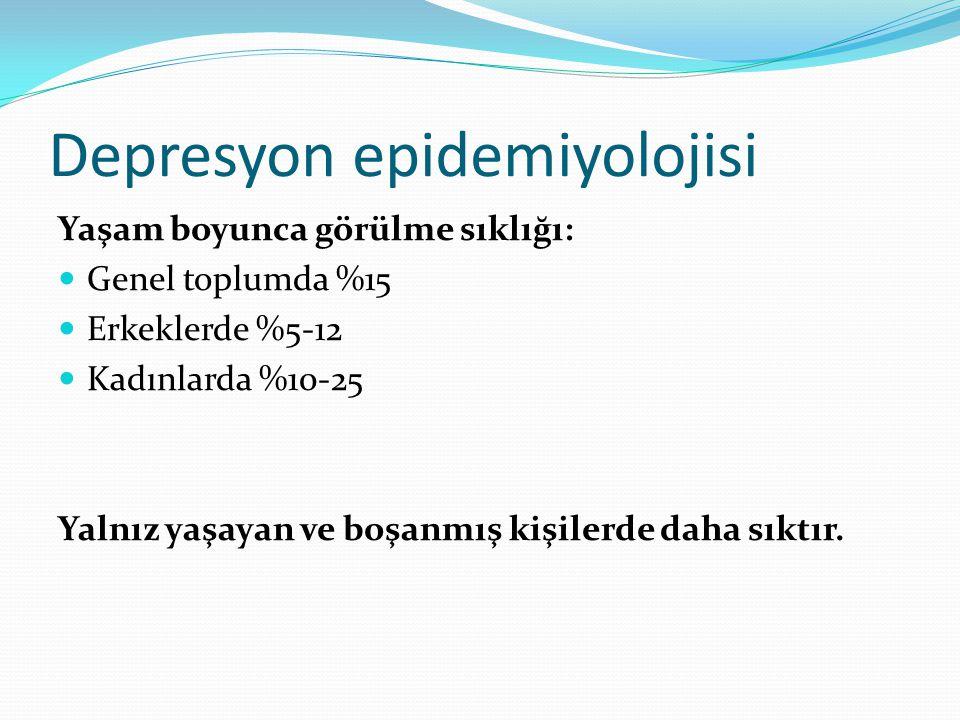 Depresyon epidemiyolojisi