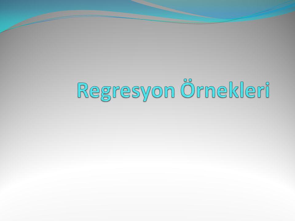 Regresyon Örnekleri