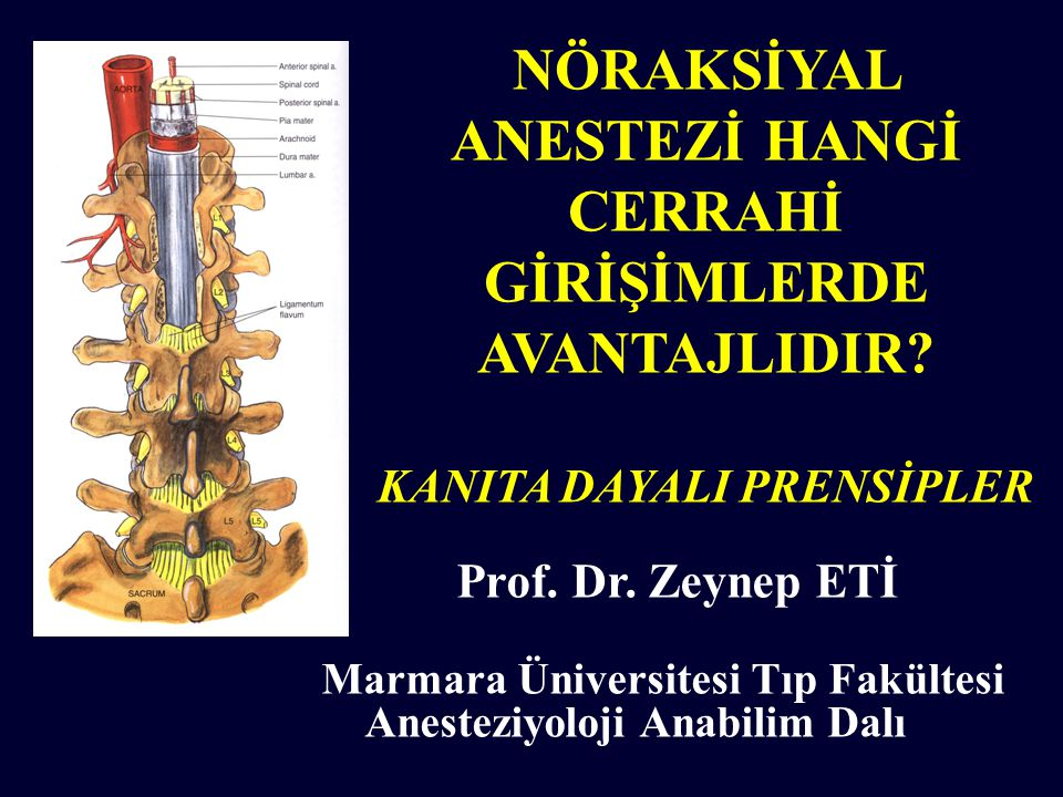 Marmara Üniversitesi Tıp Fakültesi Anesteziyoloji Anabilim Dalı